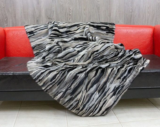 Luxury Mink fur blanket throw