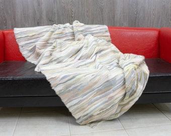 Luxury Mink fur blanket throw