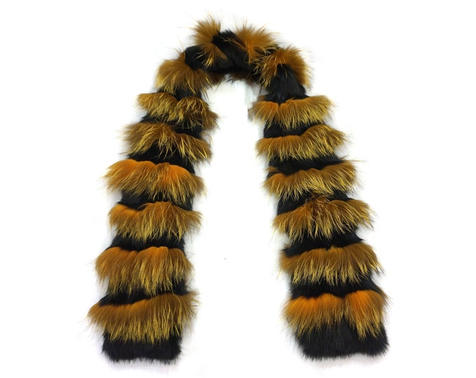 """Trendi"" Real Fur Scarf Fox & Rabbit F865"