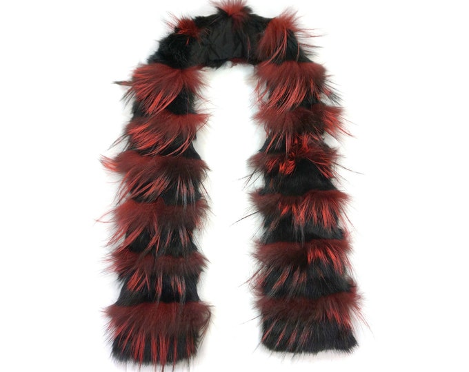 """Trendi"" Real Fur Scarf Fox & Rabbit F866"