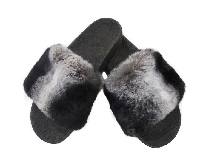 Rex Fur Slides, Fur Slippers F847
