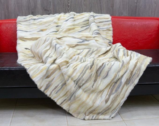 Luxury ColorFul Mink fur blanket throw