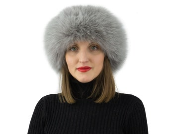Fox Fur Hat - Womens Winter Hats - Trapper Hat
