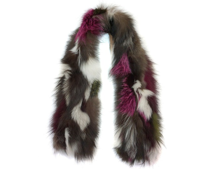 """Trendi"" Real Fur Scarf Fox F867"
