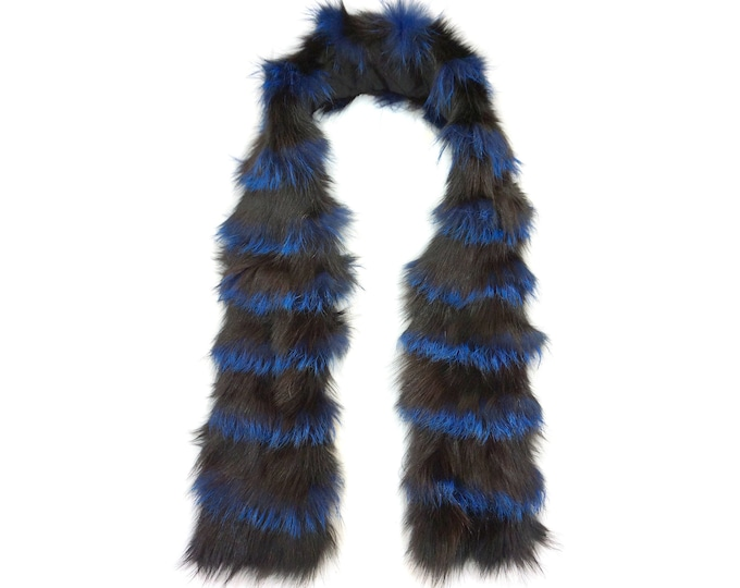 """Trendi"" Real Fur Scarf Fox & Rabbit F868"