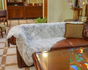 Fur Rex Rabbit Ice, Fur Throw F834