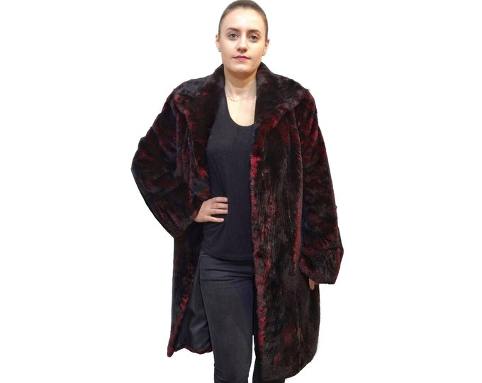 Real Long Beaver Fur Coat