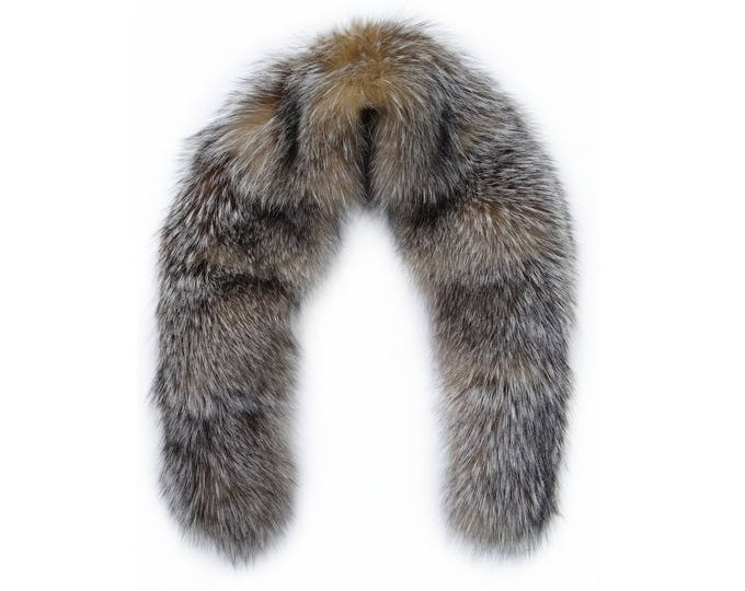 Fox Fur Collar Ideal for Leather Jacket F669