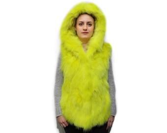 Lemon Yellow Fox Vest F792