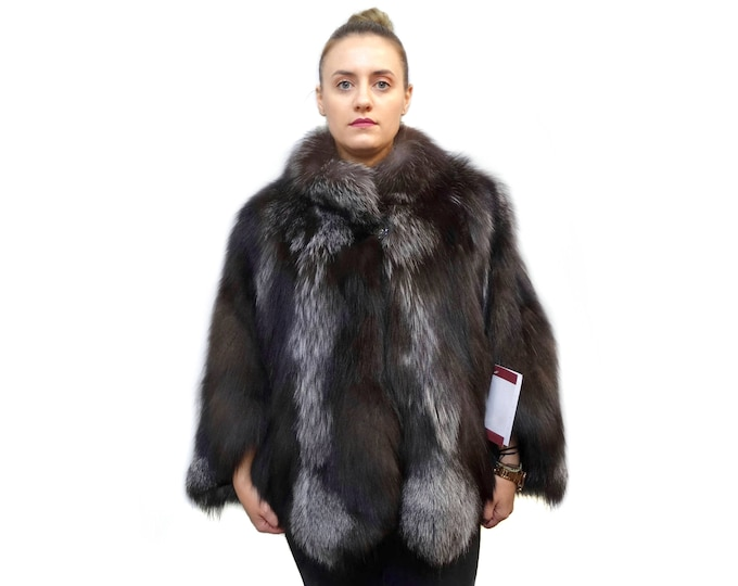 Silver Fox Fur Cape - Poncho