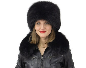 Fox Fur Hat Gift For Her | Women Fur Hat | Warm Hat Gift For Women