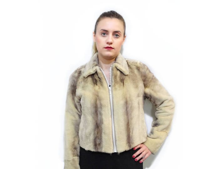 Cropped Jacket,Leather on sides F508