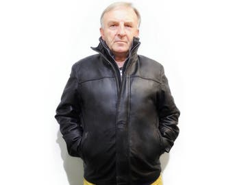 Real Leather Jacket For Men F722