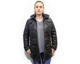 Black Leather Jacket F724