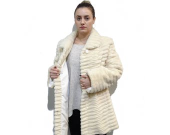 Beaver Plus Size Jacket,Woman Fur Coat F195
