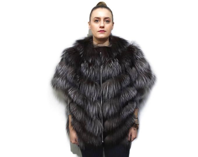 Luxury Fox Fur Coat F762