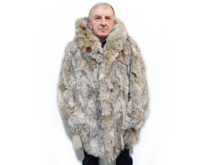 Fashionable fur jacket for men F610