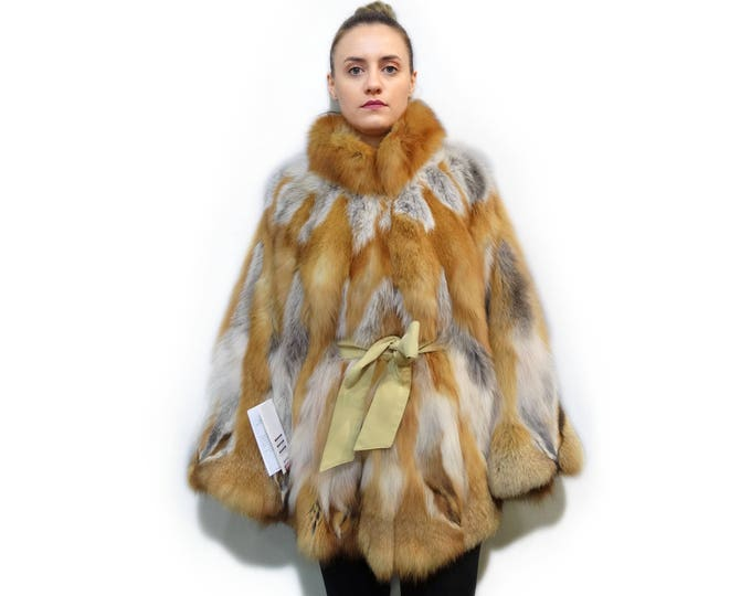 Real Canadian Fox Fur Cape