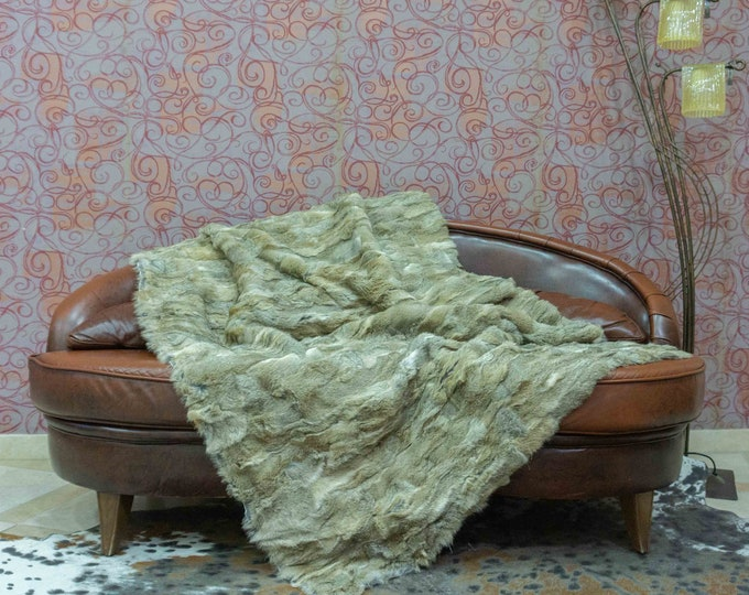 Luxury Real Fur Blanket | Fluffy Fur Throw | Ideal For Your Home Decor Or Housewarming Gift