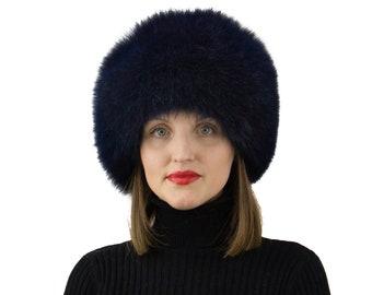 Fox Fur Hat - Womens Winter Hats - Ushanka Russian - Trapper Hat