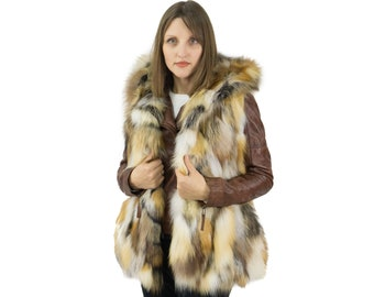 Golden fox vest with hooded, ideal for everyday use