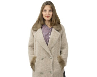 Cashmere Coat with Mink Fur