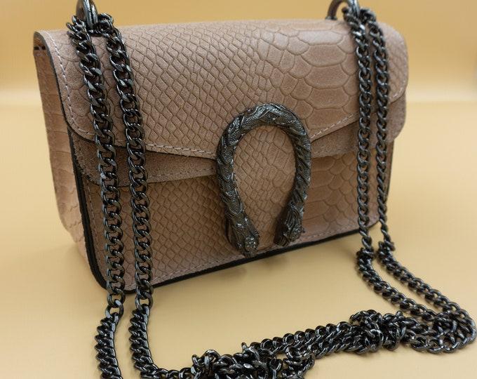 Leather Shoulder Ecru Bag