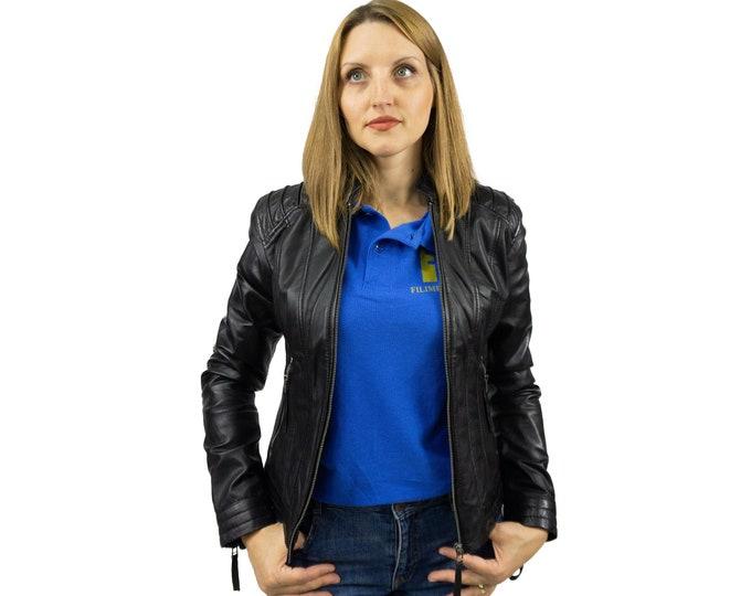 Leather Biker Jacket | Handmade Leather Jacket | Sheepskin Leather