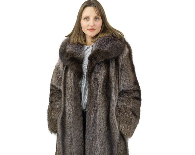 Fur raccoon coat,Classic style