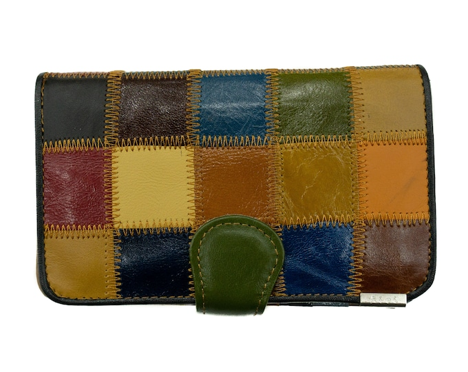 Genuine leather wallet Colorful F0188