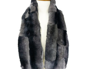 Trendi Real fur collar Gray F1184