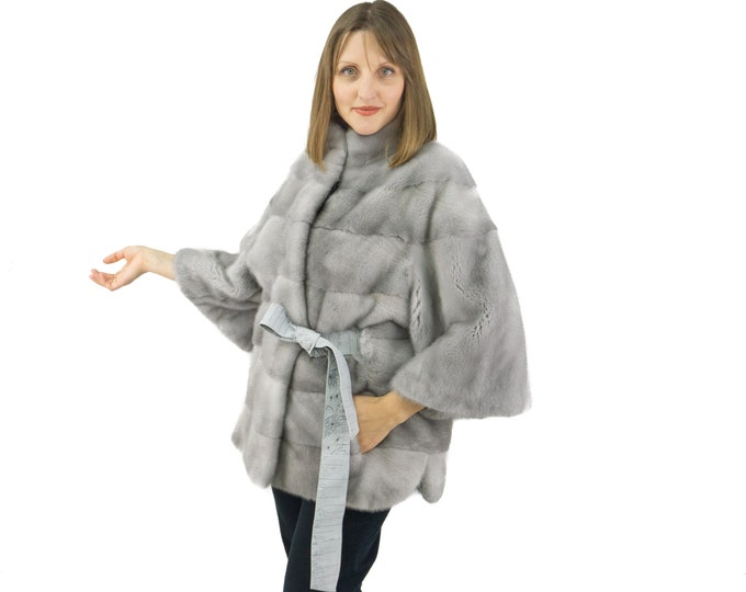 Sapphire mink jacket in a sleek and unique model