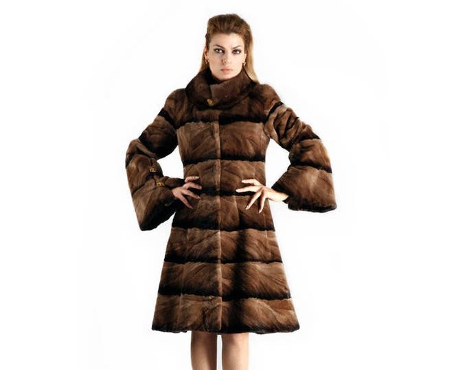Real Mink Fur Sheared Pieces and FullSkin Collar F133