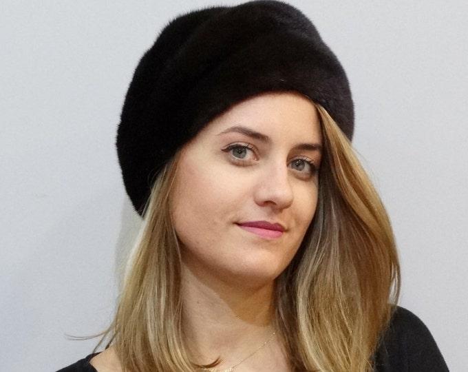 Classy Fashionable Mink Hat F330