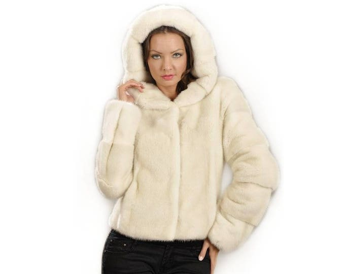Real Mink Fur Pearl, Real fur jacket,fur mink F827