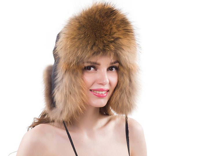 Fox Fur Hat Gift For Her | Women Fur Hat | Real Fur Hat | Warm Hat Gift For Women