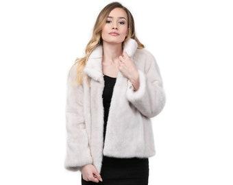 Real Mink Fur Pearl, Real fur jacket,fur mink F870