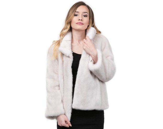 Real Mink Fur Pearl, Real fur jacket,fur mink F870