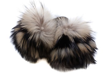 Fashion Fox Fur Slides, Fur Slides F1013
