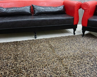 Animal print Mink Fur Carpet