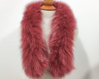 Fox fur trim for hood, gold fox fur collar