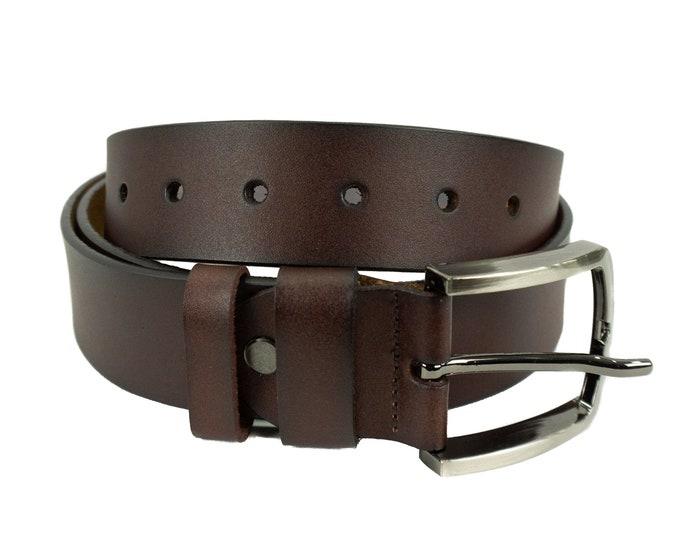 Men's leather belt in Brown classic design