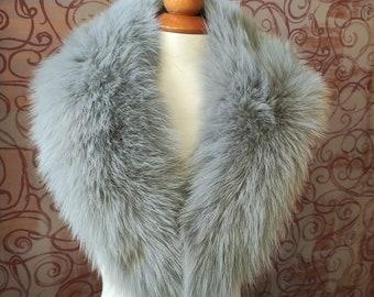 Real Fox Fur Large Collar