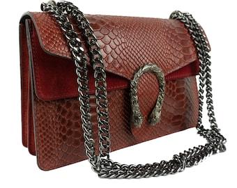 Leather Shoulder burgundy Bag