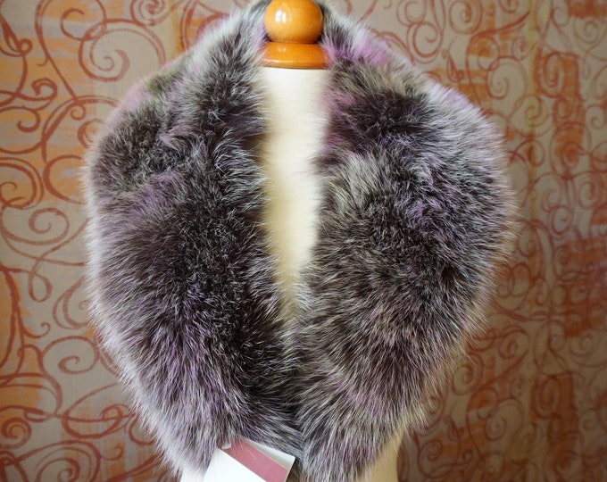 Unique Fox Fur Collar Ideal for Leather Jacket F667
