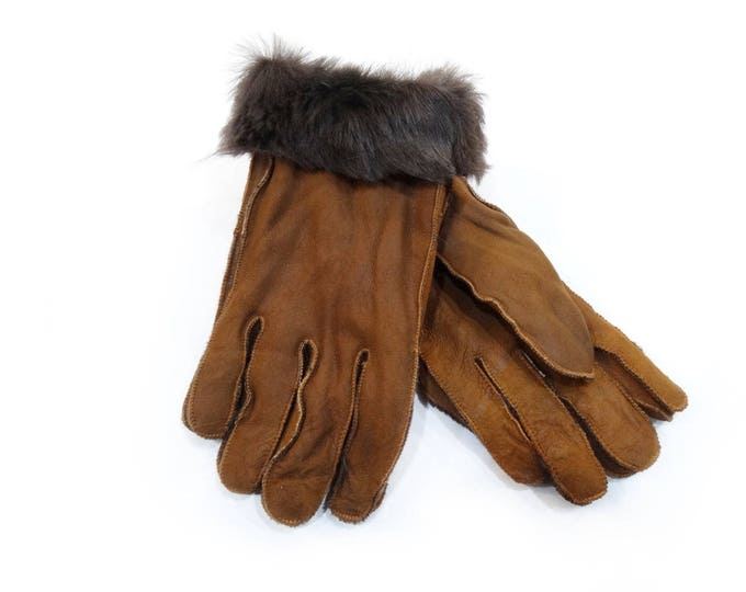 Mouton fur gloves, Men's Gift F523