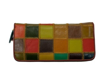 Genuine Leather Wallet Colorful   Leather Wallet Purse Gift For Her