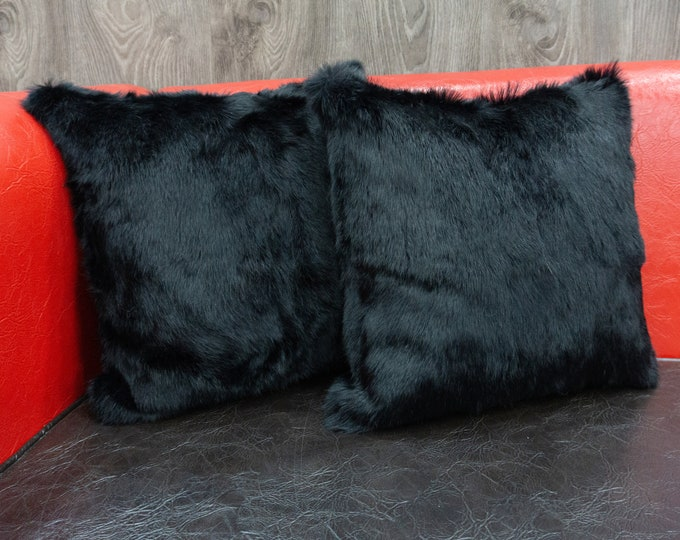 Fur Pillows With Fluffy Rabbit Fur | Ideal For Your Home Decor Or Housewarming Gift