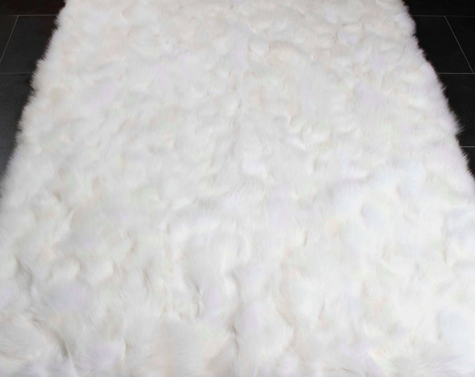 White Fox Fur Carpets F1024