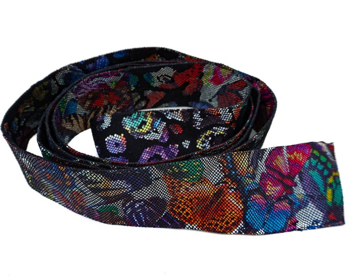 Leather Belt, Colorful Butterfly Belt F1021